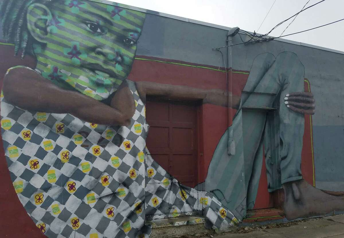 Mural at 220 Second Avenue in Albany. (Chris Churchill / Times Union)