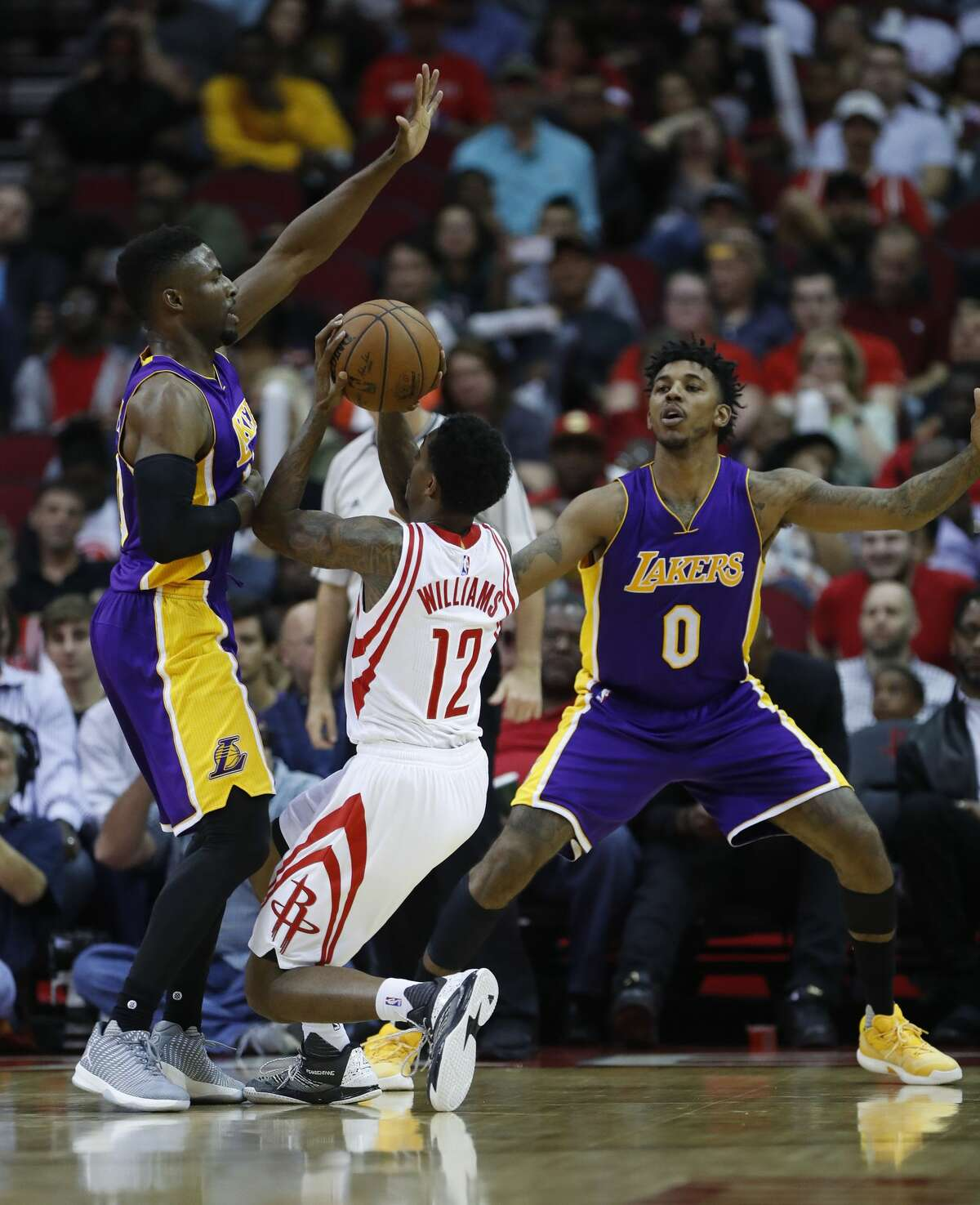 Houston Rockets guard Lou Williams (12) during the second half of an NBA game at Toyota Center, Wednesday, March 15, 2017, in Houston. ( Karen Warren / Houston Chronicle )