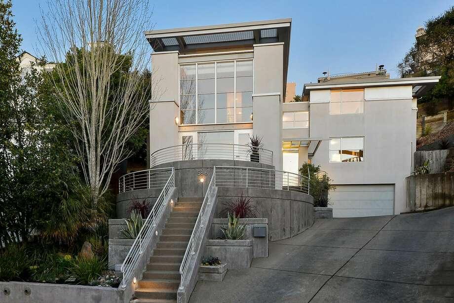 5816 Buena Vista Lane in Upper Rockridge is a four-bedroom designed by architect Robert Nebolon available for $1.895 million. Photo: Daniel Lunghi