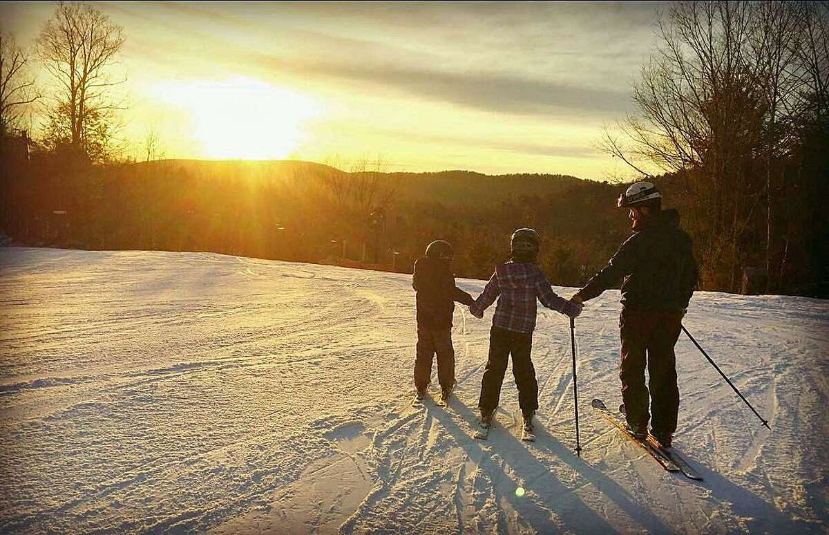 As the sun nears to set on the ski season in Connecticut coming to an end, Mohawk Mountain in Cornwall got two feet on snow on Tuesday, March 14, 2017.