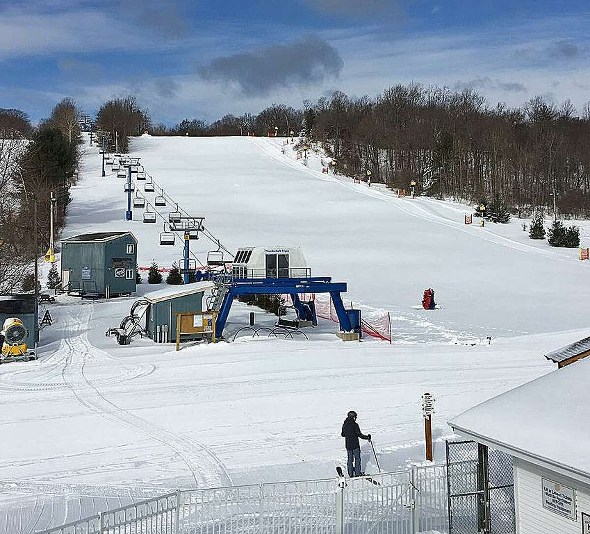 Mount Southington received 18 inches of snow from a nor'easter on Tuesday, March 14, 2017. The heavy snow allowed it to open all its trails. On Friday, March 17, 2017, Southington will be charging just $17 for tickets for St. Patrick's Day.