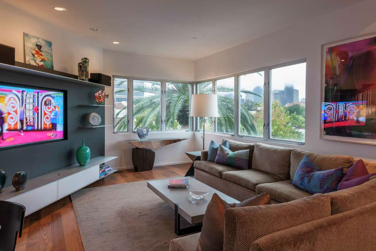 Stanford Street: The main living area includes a living room, dining area and kitchen -- and a great view.