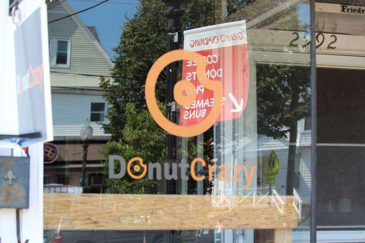 The Donut Crazy Bridgeport location. It will open in Westport March 17.