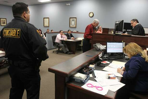 A truancy hearing gets underway in 2012 at the Bexar County Precinct 2 Court. Following Bexar County's example, the state decriminalized truancy two years ago. Now a $1.2 million grant to the city will allow the hiring of an additional 20 caseworkers to work directly with area school districts to keep students in class.