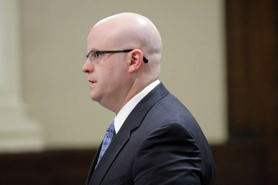 Rensselaer County District Attorney Joel Abelove addresses the judge in Rensselaer County Court  on Thursday, Oct. 27, 2016, in Troy, N.Y. during the sentencing of three people involved in a Lansingburgh arson case back in May of 2015.  (Paul Buckowski / Times Union) Photo: PAUL BUCKOWSKI / 40038241A