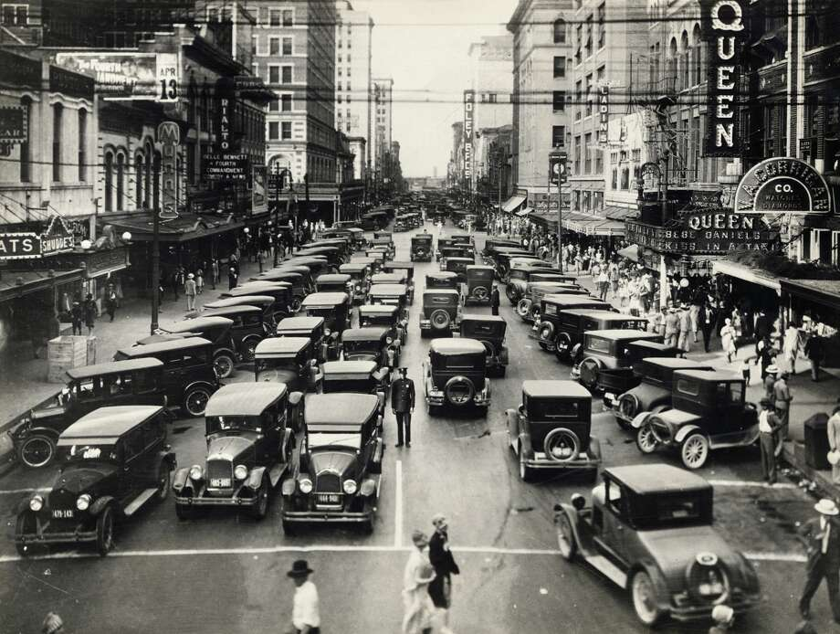 PHOTOS: Rarely-seen photos from Houston will dazzle history buffs  We recently uncovered a hefty cache of images from Houston's history (such as this view of Texas at Main Street) that many people have never seen. Ranging from the tragic, to the mundane, to the triumphant, readers will love seeing the city they love evolve over the decades.    Click through to see images of Houston you have probably never laid eyes on...  Photo: George Rinhart/Corbis Via Getty Images