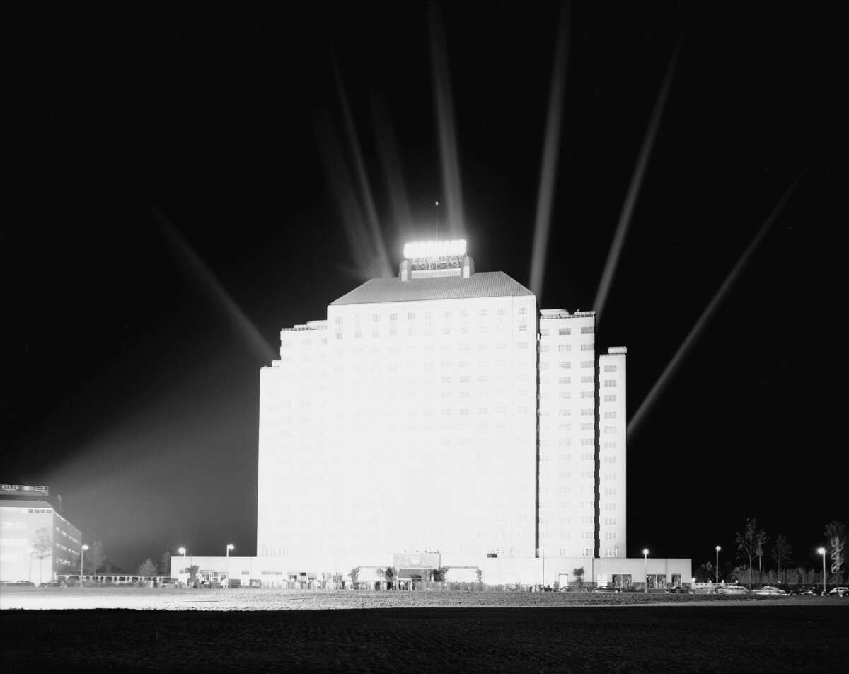 PHOTOS: The Shamrock Hotel opens in 1949 The Shamrock Hotel opening at night with spotlights, Houston, Texas, March 1949. Click through to see more photos of the hotel in its heyday...