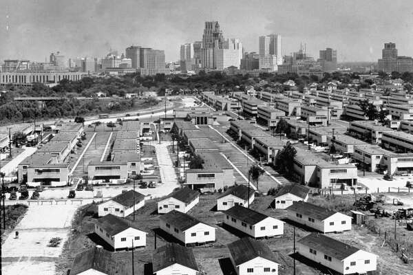 A view of a housing project in Houston. (Photo by Dmitri Kessel/The LIFE Picture Collection/Getty Images)