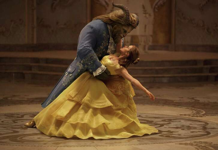 "Dan Stevens plays The Beast to Emma Watson's Belle in a live-action adaptation of the animated classic ""Beauty and the Beast."""