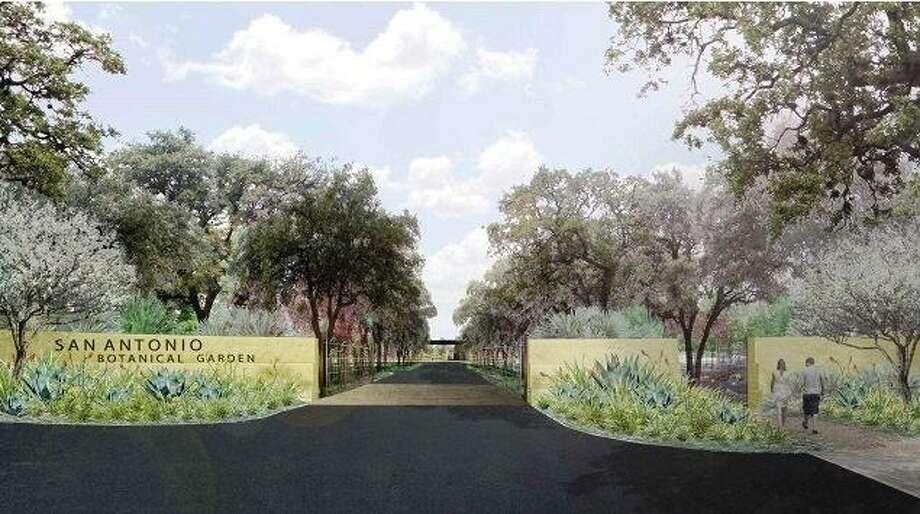 An architect's rendering of the new gateway to the San Antonio Botanical Garden at North New Braunfels Avenue and Funston Place. Photo: Courtesy San Antonio Botanical Garden