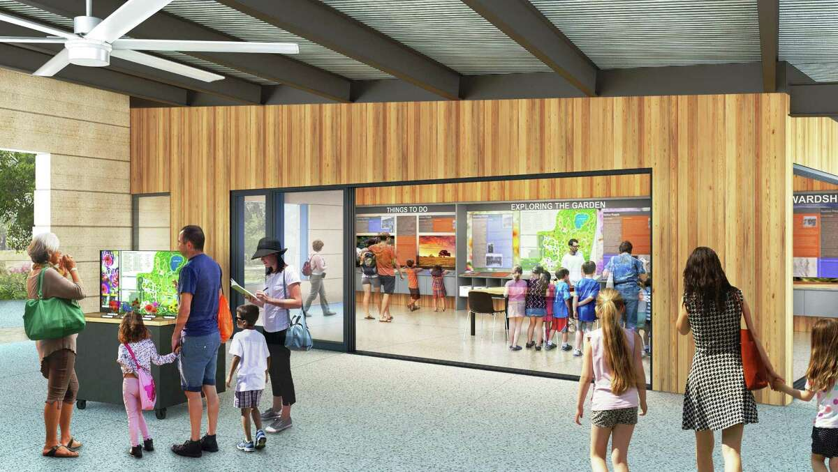 A rendering of the Discovery Center, a hands-on educational facility, at the San Antonio Botanical Garden.