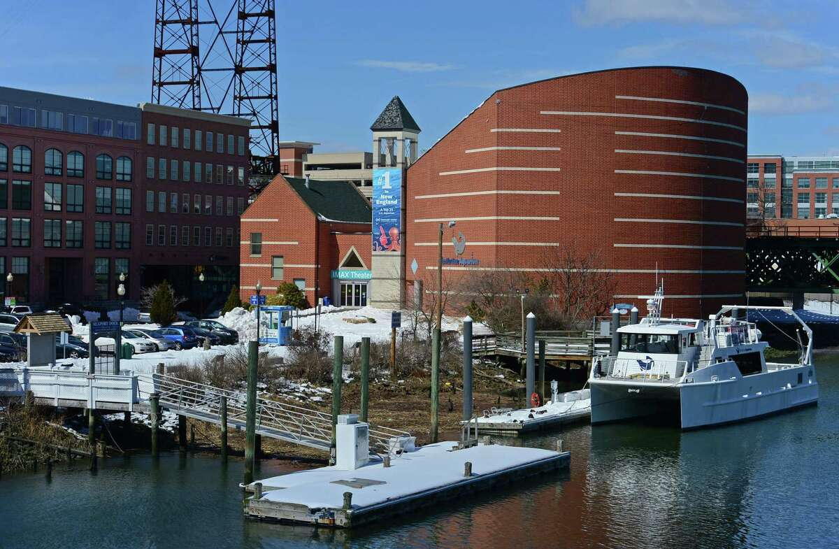 The IMAX theater at the Maritime Aquarium Thursday, March 16, 2017, in Norwalk, Conn.