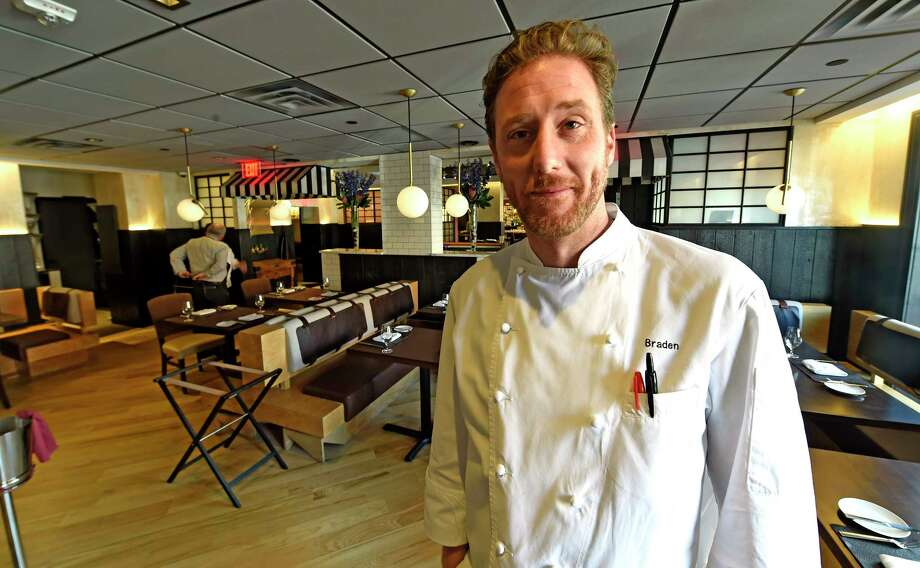 Executive Chef Braden Reardon stands in the dining room of the Salt and Char Friday  March 10, 2017 in Saratoga Springs, N.Y. (Skip Dickstein/Times Union) Photo: SKIP DICKSTEIN / 20039913A