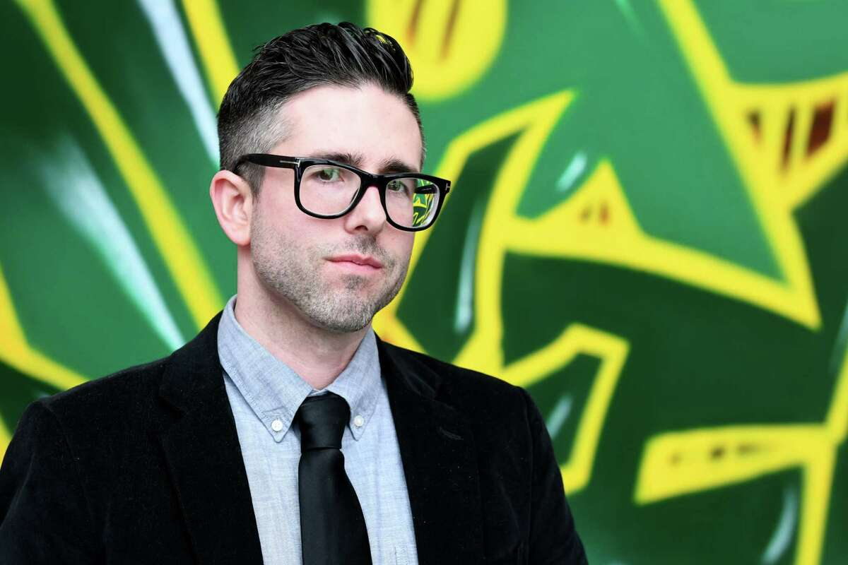 Siena College professor Todd Snyder on Wednesday, March, 15, 2017, at Siena College in Colonie, N.Y. Siena is hosting its 3rd annual Hip-Hop Week on March 20-25. (Will Waldron/Times Union)