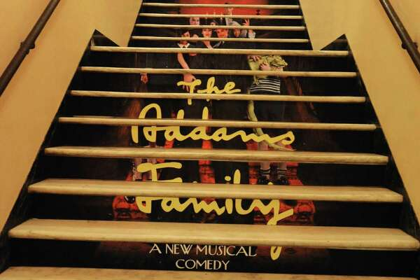 The Addams Family musical advertised on stairs at Proctors on Wednesday, Nov. 30, 2011 in Schenectady, N.Y. (Lori Van Buren / Times Union)