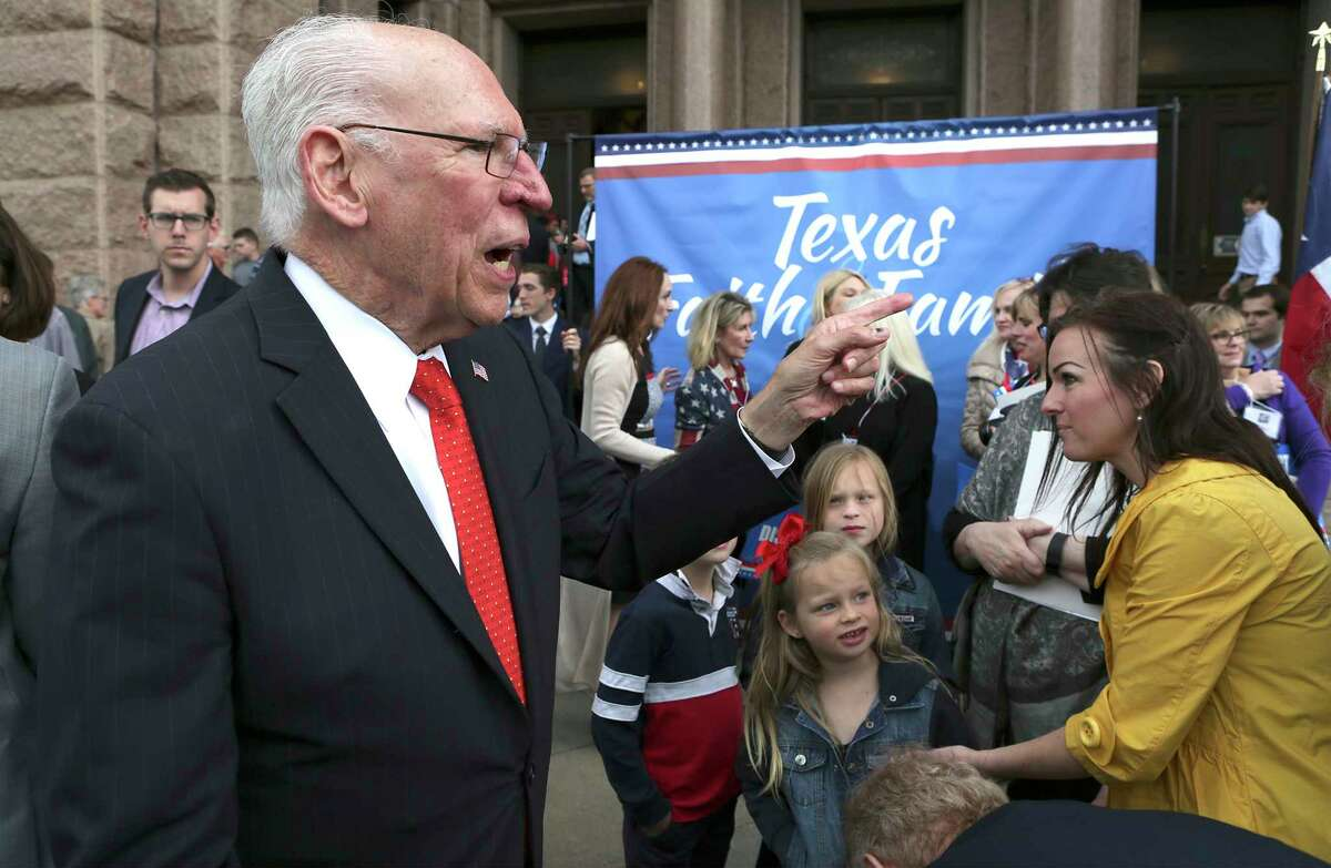 Rev. Rafael Cruz, father of U.S. Sen. Ted Cruz talks to supporters at the Faith and Family Rally at the State Capitol in Austin, TX on Thursday, March 16, 2017.