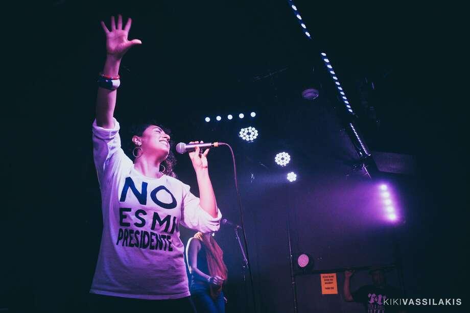 Taina Asili performing at the Rock & Roll Hotel in Washington, D.C. (Photo by Kiki Vassilakis / from tainaasili.com)