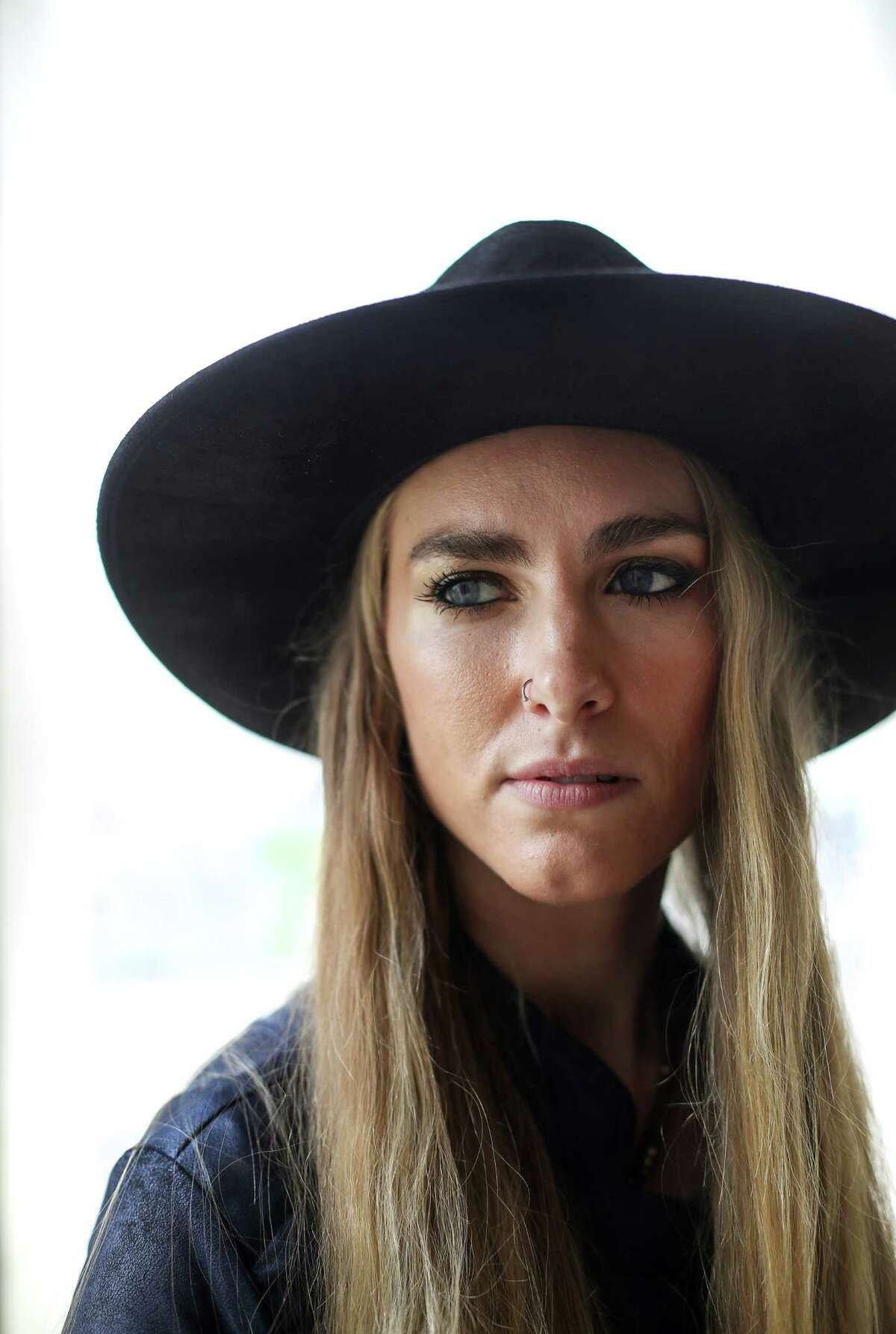 Stephanie Rice, of the band Colonial Blue, poses for a portrait at the Houston Chronicle offices, Friday, March 10, 2017, in Houston. ( Jon Shapley / Houston Chronicle )