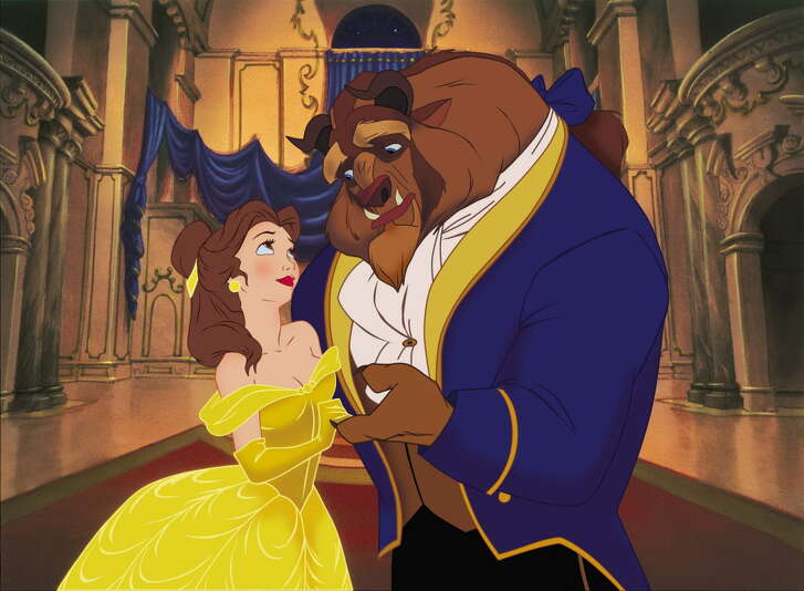 """Disney """"Beauty & the Beast 3D"""" (L-R) Belle & the Beast. Â2011 Disney. All Rights Reserved."""