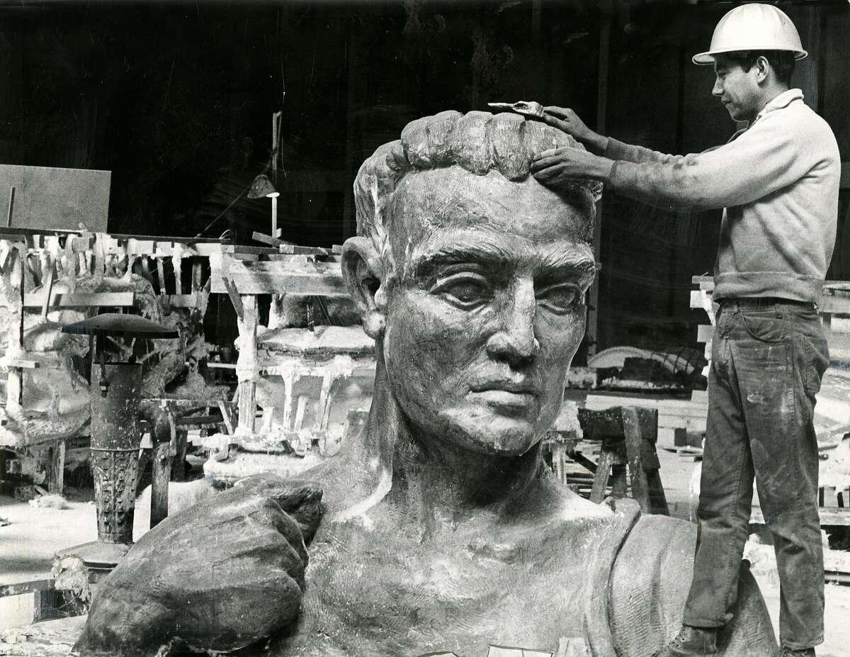 San Francisco Palace of Fine Arts restoration and reconstruction. October 20, 1966