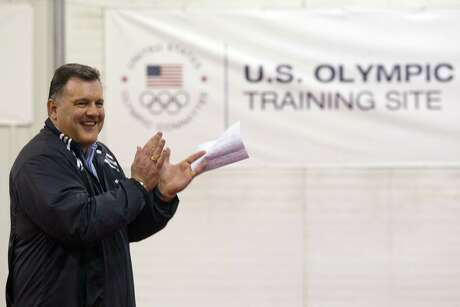USA Gymnastics president Steve Penny addresses a press event at the Karolyi Ranch on Wednesday, Jan. 26,  2011, in Huntsville, Texas. The Karolyi Ranch, which is approximately 60 miles north of Houston and has been the training home of the women's gymnastics team since 2001, was officially designated by the U.S. Olympic Committee today as a U.S. Olympic training site for women's gymnastics, rhythmic gymnastics, trampoline and tumbling and acrobatics. Hilton Worldwide also announced Wednesday that it will become a corporate sponsor of USA Gymnastics.