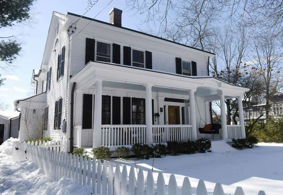 The home at 33 Mead Ave. in the Cos Cob section of Greenwich, Conn. Thursday, March 16, 2017. The 3,452 sq. ft. four-bedroom, four-bathroom house is a historically-preserved former ship captain's house built in 1835 and is listed at $1,585,000. Photo: Tyler Sizemore / Hearst Connecticut Media / Greenwich Time