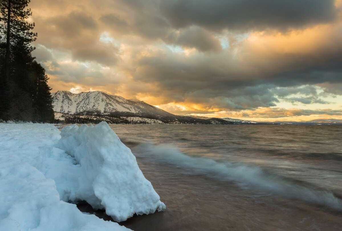 Postcard perfect: Photographer David N. Braun captures the natural beauty of winter at Lake Tahoe in March 2017.