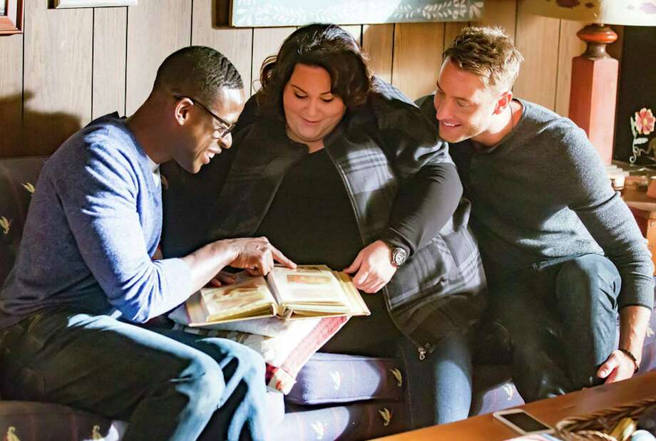 """THIS IS US -- """"The Trip"""" Episode 109 -- Pictured: (l-r) Sterling K. Brown as Randall, Chrissy Metz as Kate, Justin Hartley as Kevin -- (Photo by: Ron Batzdorff/NBC) 