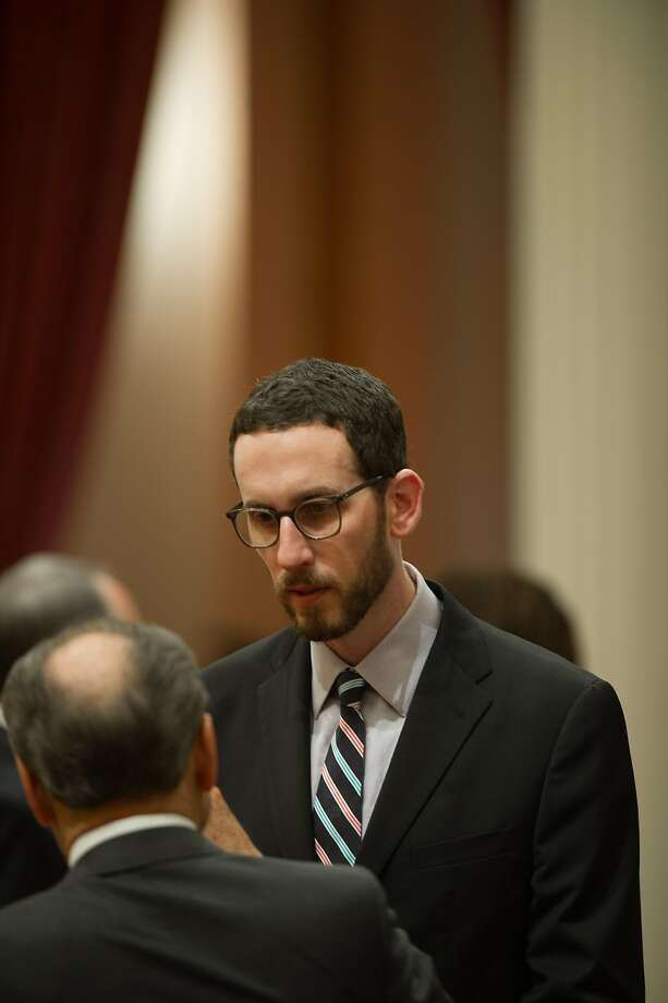 Sen. Scott Wiener, D-San Francisco, has a bill, SB239, to reduce criminal penalties for intentional HIV transmission on the governor's desk. Photo: Chris Kaufman, Special To The Chronicle