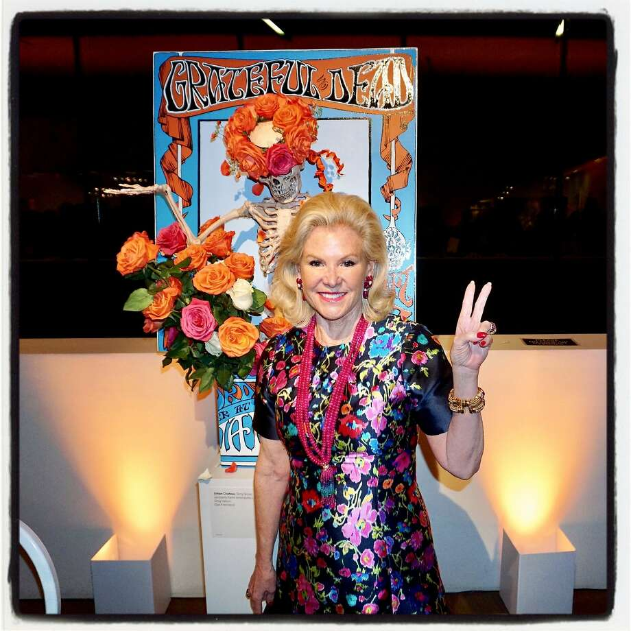 Fine Arts Museums board chairman Dede Wilsey preps for the de Young's Summer of Love exhibition while at Bouquets to Art. March 13, 2017. Photo: Catherine Bigelow, Special To The Chronicle