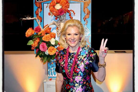 Fine Arts Museums board chairman Dede Wilsey preps for the de Young's Summer of Love exhibition while at Bouquets to Art. March 13, 2017.