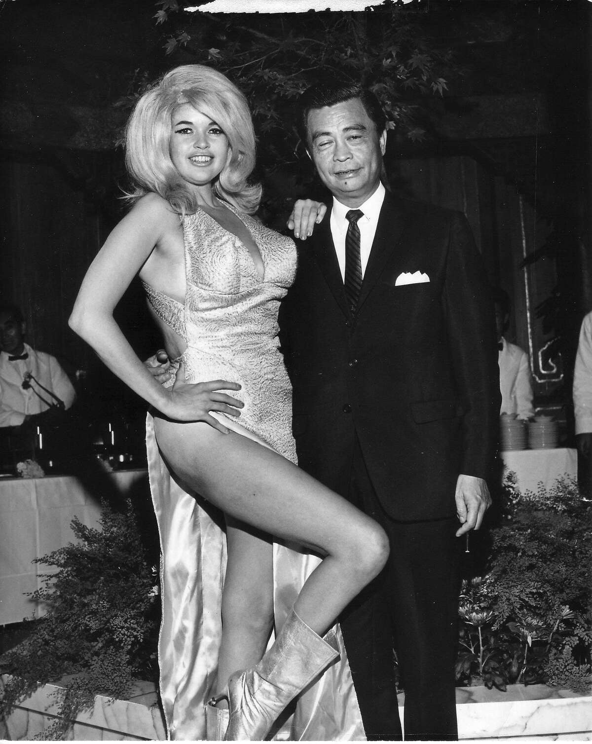 Actress Jayne Mansfield and Kee Joon at the 10th San Francisco International Film Festival. Credit: Courtesy of SFFILM