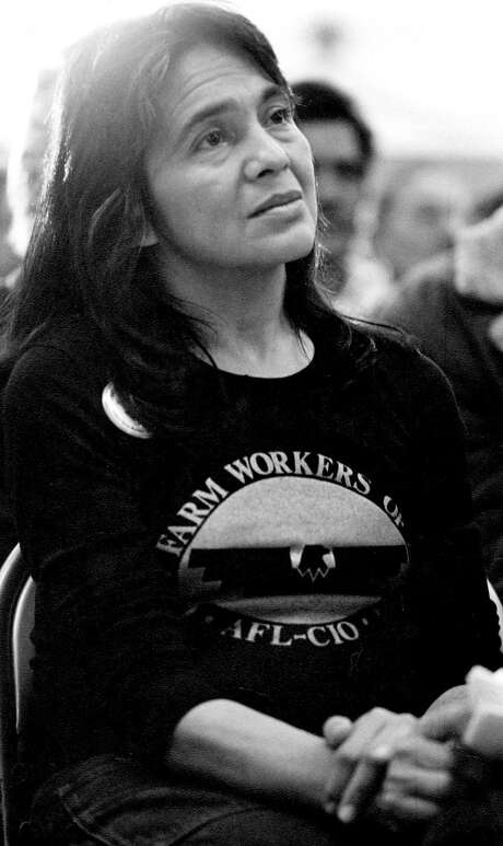 Dolores Huerta, UFW co-founder, attends a rally in Calexico (Imperial County) in the mid-1970s. Photo: One Time Use Only, Cathy Murphy / All Rights Reserved