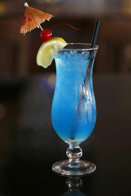The Blue Pacific drink at Miramar Beach Restaurant. Photo: Liz Hafalia, The Chronicle