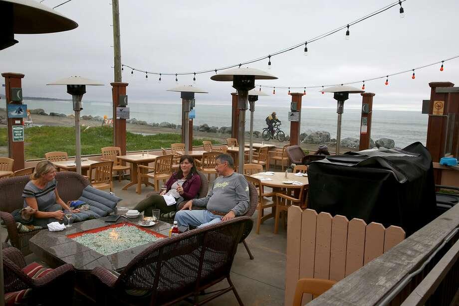 The outside patio at Miramar Beach Restaurant. Photo: Liz Hafalia, The Chronicle