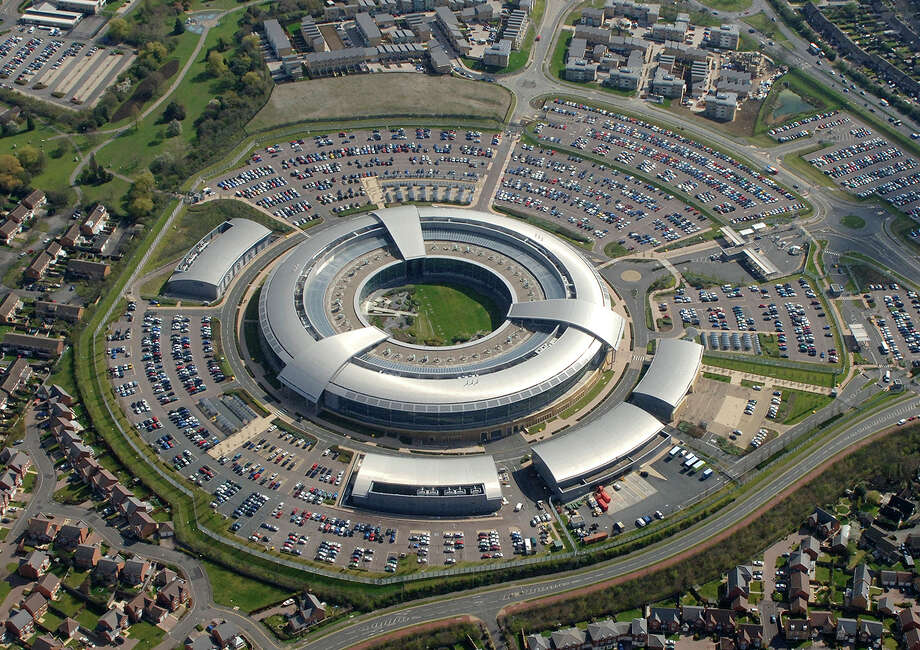 "FILE - This is an undated handout file photo issued by GCHQ of the Government Communication Headquarters building in Cheltenham. White House spokesman Sean Spicer on Thursday March 16, 2017 cited Fox News analyst Andrew Napolitano, who suggested that the British electronic surveillance agency GCHQ had helped former President Barack Obama spy on Trump before last year's presidential election.  GCHQ took the unusual step of releasing a statement calling the claims ""nonsense.""   (PA/file via AP) Photo: AP / PA"
