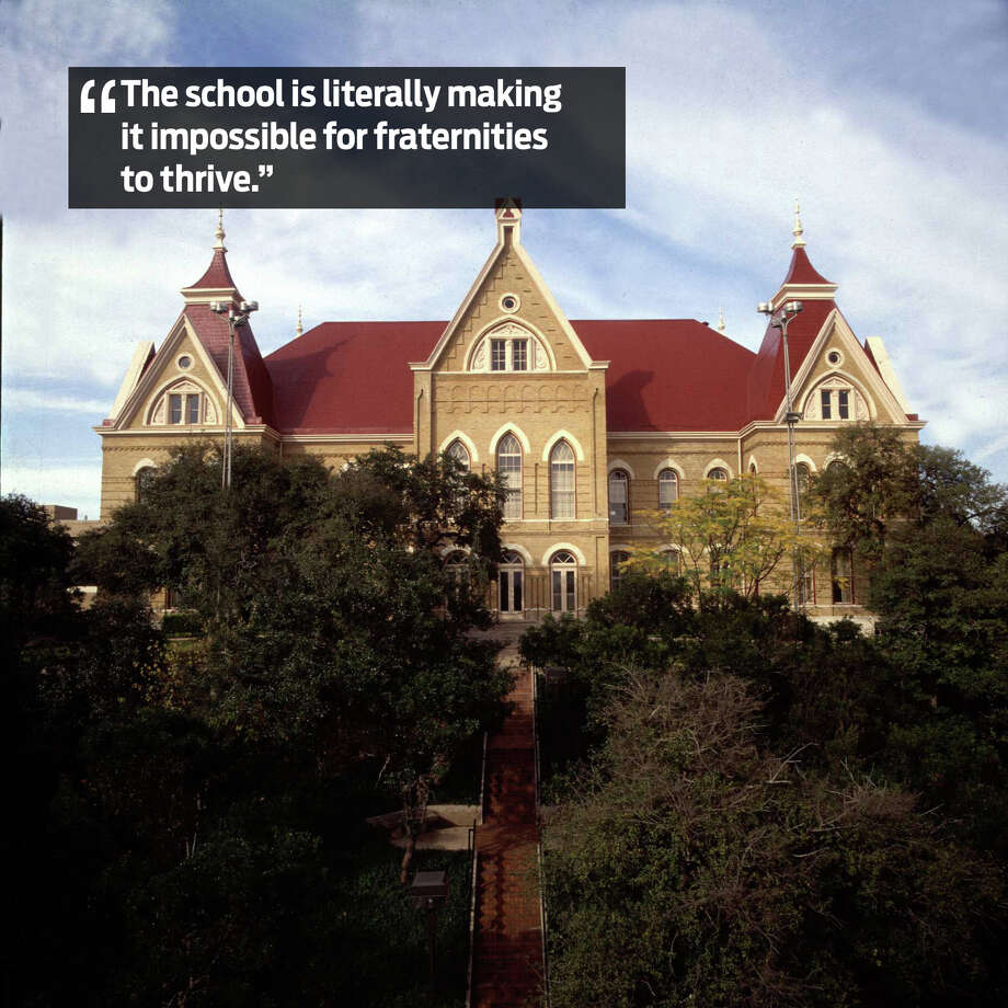 """This school is literally making it impossible for fraternities to thrive."" Photo: File Photo"