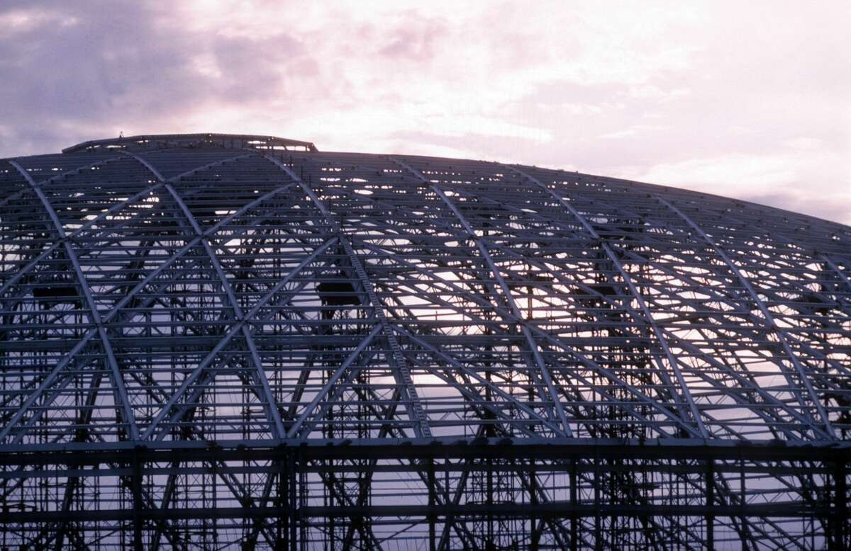 PHOTOS: The best photos from Houston history The skeleton shape of the Astrodome is seen next to the Houston sky in November 1963. >>>See some of the best photos of life in Houston...