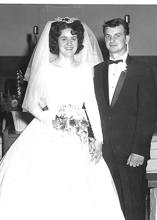 Sharon and Tom Cadle on the day of their wedding. Photo: For The Intelligencer