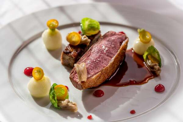 Liberty Farm Duck Breast at La Folie in San Francisco, Calif. is seen on March 16th, 2017.