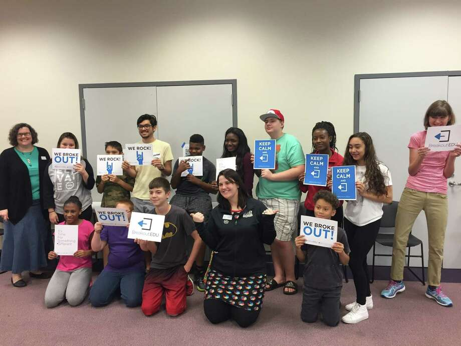 Octavia Branch Library hosts first ever escape room during spring break. Photo: Dina Kesbeh