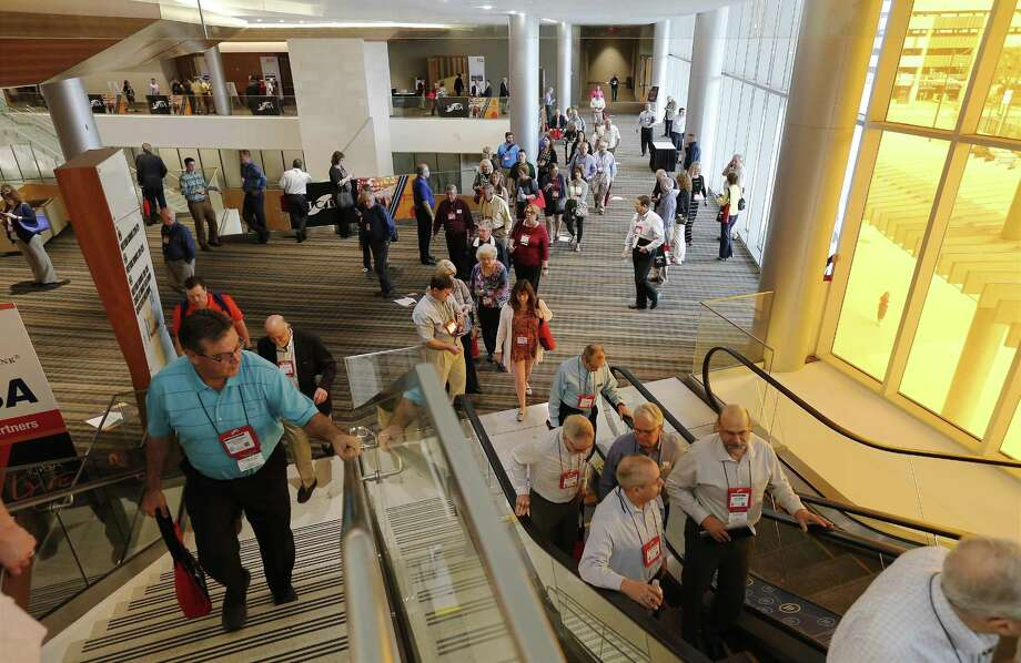 The Independent Community Bankers of America holds their convention at the Henry B. Gonzalez Convention Center on Thursday, Mar. 16, 2017. (Kin Man Hui/San Antonio Express-News) Photo: Kin Man Hui, Staff / San Antonio Express-News / ©2017 San Antonio Express-News