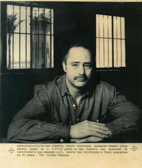Murderer Robert Alton Harris in San Quentin awaits execution.