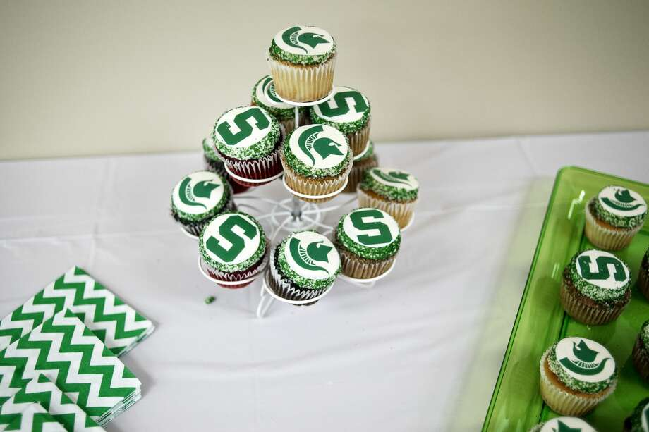 Cupcakes sit out during Match Day at the MidMichigan Medical Center Gerstacker Building on Friday. Ten fourth-year Michigan State University College of Human Medicine students opened envelopes to find out where they had been matched for a residency program whether in Michigan or across the country. Photo: Erin Kirkland/Midland Daily News
