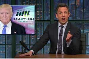 """One time use: """"Old people voted for you ... They believed you when you said you care about them. There's nothing more low-life than lying to the elderly,"""" Seth Meyers said on Thursday night, March 17, 2017."""
