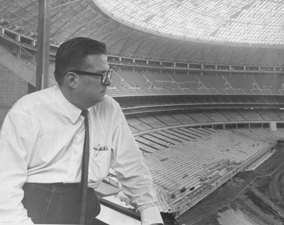 Roy Hofheinz looks out over the Astrodome. Photo: Ira Gay Sealy/Denver Post Via Getty Images