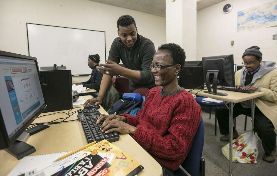 A computer class at Strong City Baltimore, a nonprofit that operates with federal Community Development Block Grant funds that would be eliminated under President Donald Trumps proposed cuts, in Baltimore, March 16, 2017. Trump's proposed cuts to the Department of Housing and Urban Development would also eliminate programs cities have used to fund things like Meals on Wheels. (Nate Pesce/The New York Times) Photo: NATE PESCE, NYT