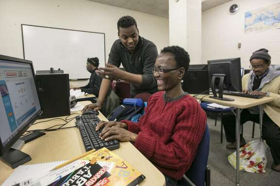 A computer class at Strong City Baltimore, a nonprofit that operates with federal Community Development Block Grant funds that would be eliminated under President Donald Trumps proposed cuts, in Baltimore, March 16, 2017. Trump�s proposed cuts to the Department of Housing and Urban Development would also eliminate programs cities have used to fund things like Meals on Wheels. (Nate Pesce/The New York Times)