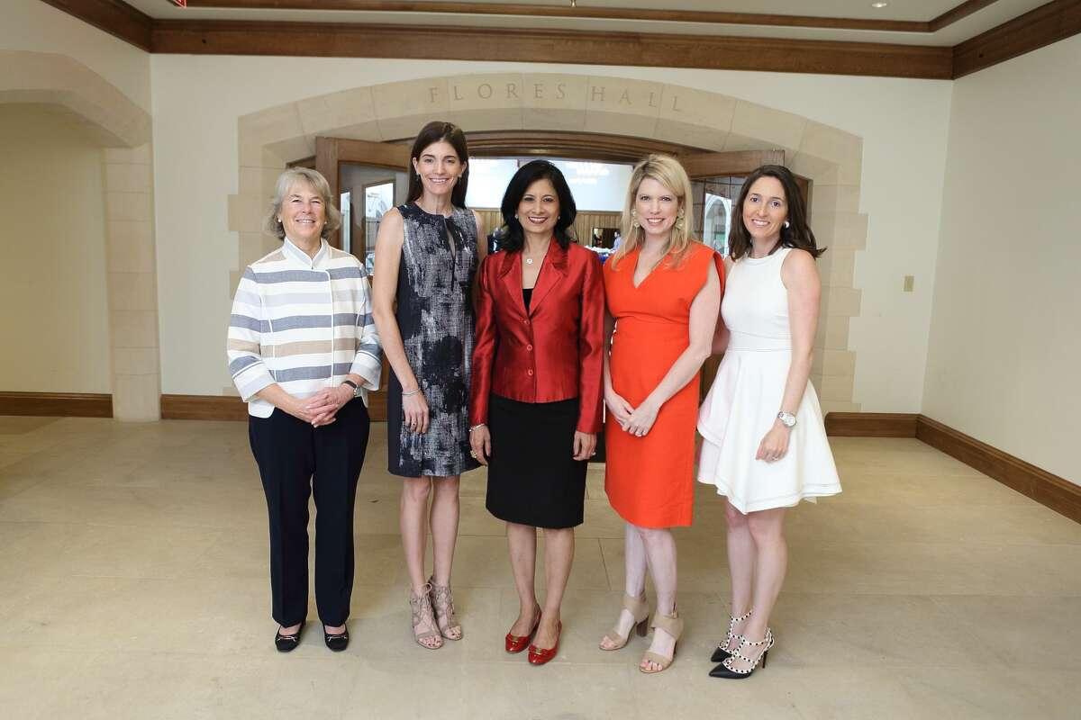 Kathy Heinzerling, Liz Stepanian, Dr. Renu Khator, Courtney Toomey, and Allison Leibman at Breakthrough's ninth annual luncheon