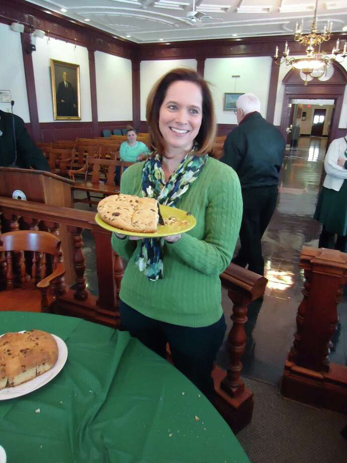 Susan Barksdale was this winner of this year's Soda Bread Contest in Stratford. Photo: John Burgeson / Connecticut Post